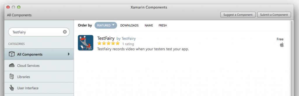 TestFairy Xamarin Component